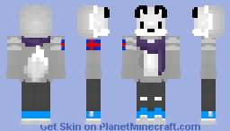 Icelandic Arctic Fox in longslave (sweater) Minecraft Skin