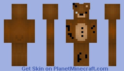Cartoon Withered freddy Minecraft Skin