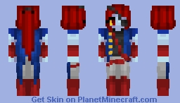 Piratetale - Undyne Minecraft Skin