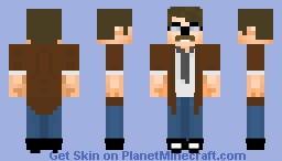 Jim Gordon DC Comics Batman (Commissioner Gordon) Minecraft Skin