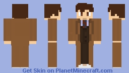 The 10th doctor *removable coat in settings* edited Minecraft Skin