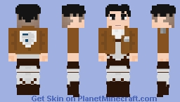 levi ackerman attack on titan minecraft skin