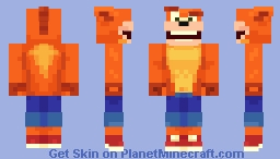 Crash Bandicoot Minecraft Skin