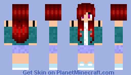 Teen Girl with Red Hair Minecraft Skin
