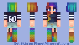Rainbows All Around ☁︎ (60 Subscriber special) Minecraft Skin