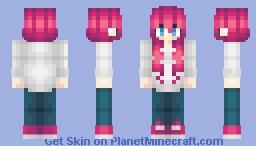 Cute Magenta Girl Skin Minecraft Skin