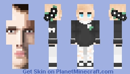 Black and White ~ cfhminecraft (dont quite know why i put the face on the back ~ popreel Minecraft Skin