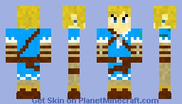 Legend Of Zelda: Break of the wild Link Minecraft Skin