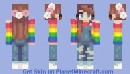 Pride Sweaters!! (8 others in description w/male and female, not Alex and Steve models, just Alex) Minecraft Skin