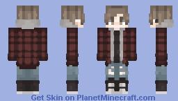 flannel + hoodie Minecraft Skin