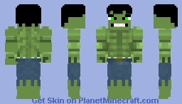 Incredible Hulk 2008 wip Minecraft Skin