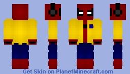Spider-Man: Homecoming w/ Jacket + Headphones Minecraft Skin