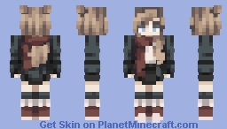 -Red scarf- Minecraft Skin