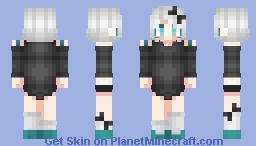 Black Bow Girl Skin Minecraft Skin