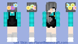 _+SUNSHINE+_ Flower crown Girl Minecraft Skin