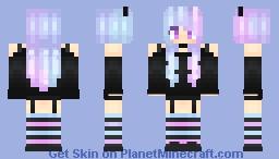 Pastel goth horned cutie Minecraft Skin