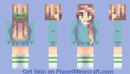 Girl in Aqua Minecraft Skin