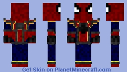 Iron-Spider Homecoming Minecraft Skin