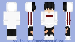 White Adidas Boy Minecraft