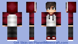 Red n' White Hoodie, Teen boy Minecraft