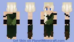 Female Elven Rogue Minecraft Skin