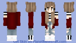 Another Red Jacket Girl! Minecraft Skin