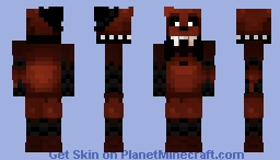 Ignited Freddy Minecraft Skin