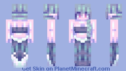 Toxic Mermaid Minecraft Skin