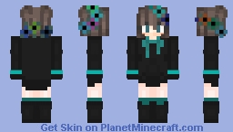 Cute Flowercrown Emo girl Minecraft Skin