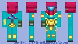 Samus Aran - Fusion Suit (Removable Suit) Minecraft Skin