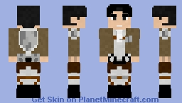 Levi Ackerman | AOT Minecraft Skin