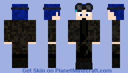 Black coated man Minecraft Skin