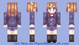 "Love Live Skins (μ's ""Muse"") | All 9 idols girls! Minecraft Skin"