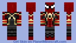 Iron Spider Infinity War Minecraft Skin