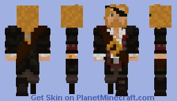 "They call him: ""Peg leg Jim, the turtle slayer"" Minecraft Skin"