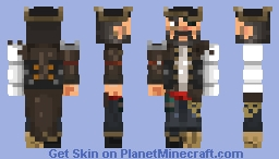 Captain Blackbeard Minecraft Skin