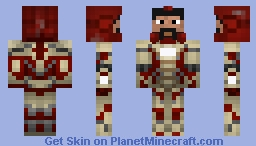 Tony stark in MARK 5 suit Minecraft Skin