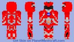Red Power Ranger 2017 Minecraft Skin