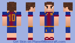 Football skin (Team:Barcelona) Minecraft Skin