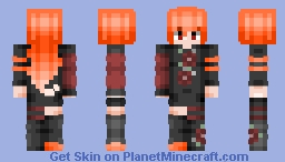 Red-Orange girl Minecraft Skin