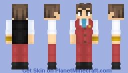 ⓍApollo JusiceⓍ | Ace Attorney: Apollo Justice Minecraft Skin