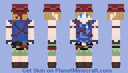 Link - Breath of the wild Climbers Set Minecraft Skin