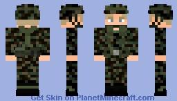Gulf War 1991 U.S - Woodland camo Minecraft Skin