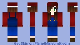 Mario girl Minecraft Skin