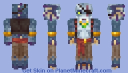 Gismun the Salmong [Pirate's Life Skin Contest] Minecraft Skin