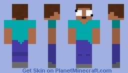 Astonished Steve Minecraft Skin