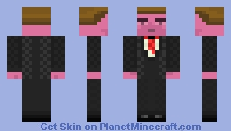 The Strange Pink Man Minecraft Skin