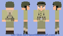 WW2 U.S. Army Minecraft Skin