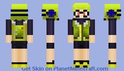 SPLATOON | Agent 3 (Inspiration from PlanetGuitar) Minecraft Skin