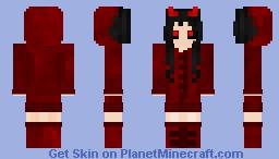 Red Devil Girl Minecraft Skin
